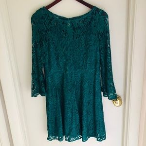 NWT. Mod Style Green Detailed Dress
